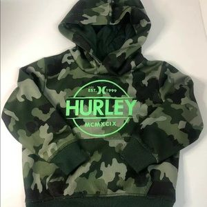 Hurley 2T toddler camo hoodie sweater kids